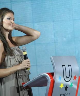 Ирина Шадрина ведет мероприятие