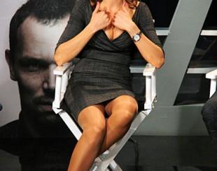 Ирина Шадрина, на съемках футбольного шоу Удар Головой