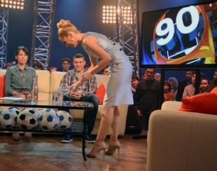 Фото со съемок ток-шоу «90-60-90»: Катерина Кирильчева и Мария Командная