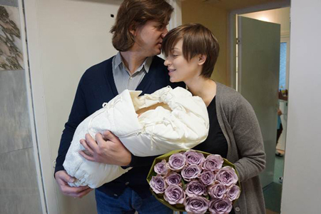 Ирина Муромцева родила дочь