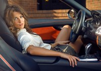 Анна Кастерова: фотосессия с BMW Z4