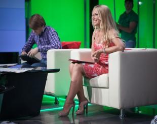 Катерина Кирильчева во время интервью с главным тренером сборной России (фото)