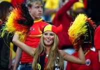 Болельщица стала популярной благодаря Чемпионату Мира по футболу